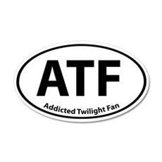 Addicted Twilight Fan Stickers 20x12 Oval Wall Pee
