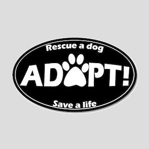 Adopt Sticker (White on Black)