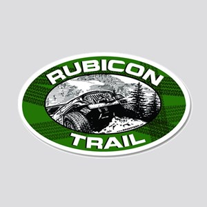 Rubicon Trail Green Oval 20x12 Oval Wall Peel