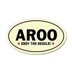 AROO - Obey the Beagle! 20x12 Oval Wall Peel