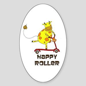 Happy Roller! Sticker (Oval)