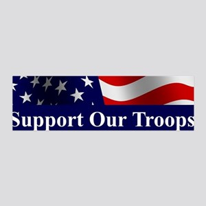 Support Our Troops 36x11 Wall Peel