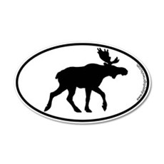 Moose SILHOUETTE 20x12 Oval Wall Peel