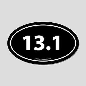 13.1 Half Marathon 20x12 Oval Wall Peel -Black (Ov