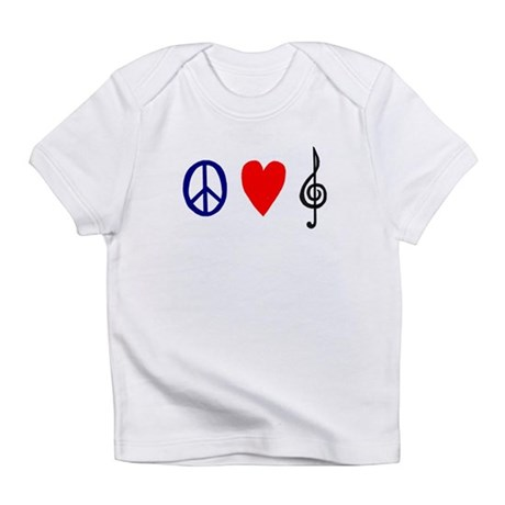 Peace,Luv ,Music Infant T-Shirt