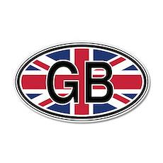 Great Britain Euro 20x12 Oval Wall Peel