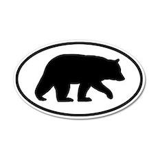 Black Bear 20x12 Oval Wall Peel