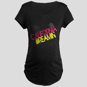 California Dreamin Maternity Dark T-Shirt