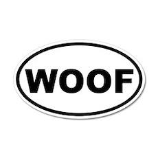 Woof 20x12 Oval Wall Peel