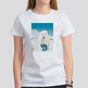 Polar Bear Holding Earth T-Shirt