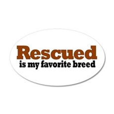 Rescued Breed 20x12 Oval Wall Peel