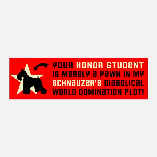 SCHNAUZER World Domination 36x11 Wall Peel