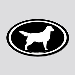 Golden Retriever Oval (wht on blk) 20x12 Oval Wall