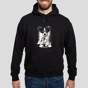 Tri-Color Border Collie Hoodie (dark)