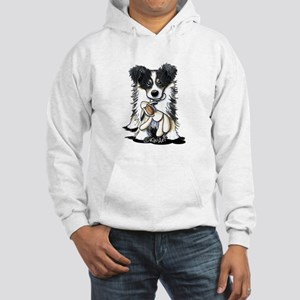 Tri-Color Border Collie Hooded Sweatshirt