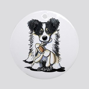 Tri-Color Border Collie Ornament (Round)