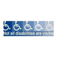 Not All Disabilities Are Visible 36x11 Wall Peel