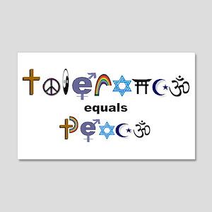 Tolerance = Peace 20x12 Wall Peel