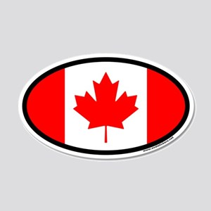 Maple Leaf Flag of Canada Euro 20x12 Oval Wall Pee
