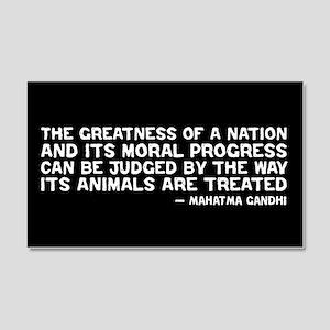 Quote - Greatness - Gandhi 20x12 Wall Peel