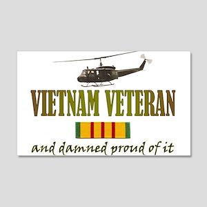 Proud Vietnam Veteran 20x12 Wall Peel