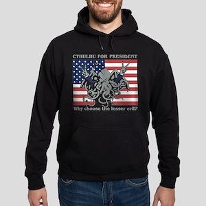 Cthulhu For President Hoodie (dark)
