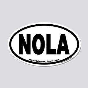 "New Orleans, Louisiana ""NOLA"" 20x12 Oval Wall Peel"