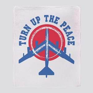 Turn Up The Peace Throw Blanket