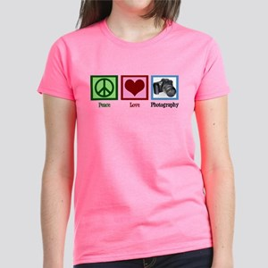 Peace Love Photography Women's Dark T-Shirt