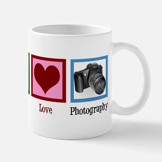 Peace Love Photography Mug