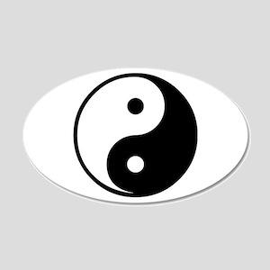 Yin Yang Symbol 20x12 Oval Wall Peel