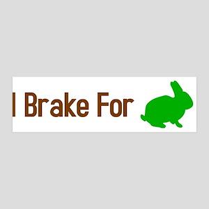 I Brake for Bunnies 36x11 Wall Peel