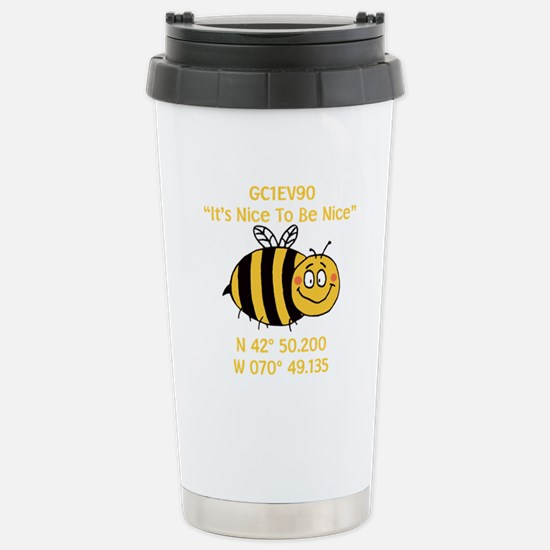 Bee Geocache Stainless Steel Travel Mug