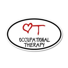 Occupational Therapy Heart 20x12 Oval Wall Peel