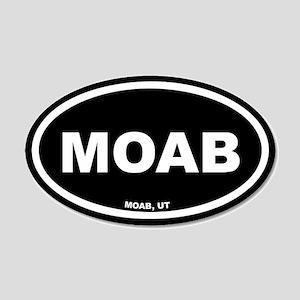 MOAB Utah Black Euro 20x12 Oval Wall Peel