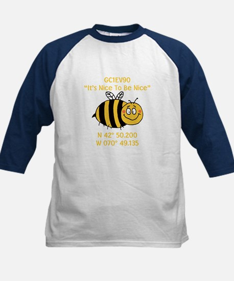 Bee Geocache Kids Baseball Jersey
