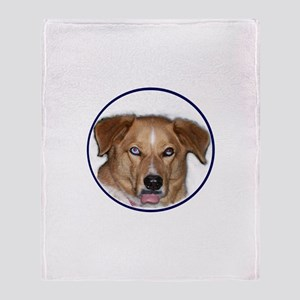 Dog Sticking Out Tongue Throw Blanket