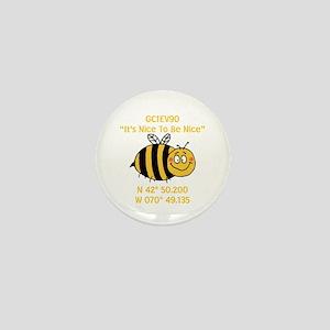 Bee Geocache Mini Button