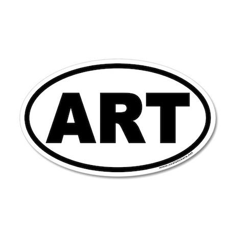 Art 20x12 Oval Wall Peel