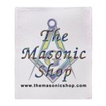 The Masonic Shop Logo Throw Blanket