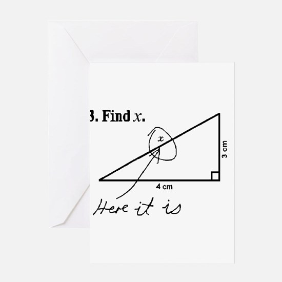 Find X (Stretch) Greeting Cards