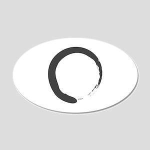 Enso - Zen Circle 20x12 Oval Wall Peel