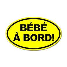 Bebe a Bord! French Oval Car Sticker