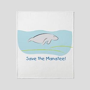 Save the Manatee! Throw Blanket