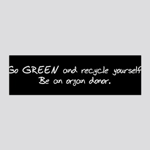 Go GREEN and Recycle Yourself 36x11 Wall Peel