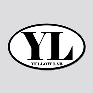 YL Abbreviation Yellow Lab Sticker