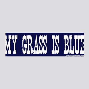 Famous My Grass Is Blue 36x11 Wall Peel