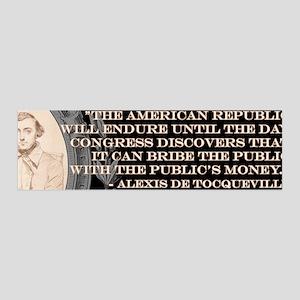 DeTocqueville on the American Republic Sticker (Bu