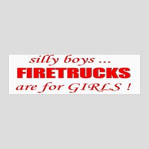 fIRETRUCKS are for GIRLS 36x11 Wall Peel