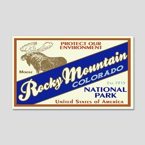 Rocky Mountain (Moose) 20x12 Wall Peel